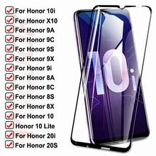 15D Vetro Temperato Per Huawei honor 10i 9i 20i 20S X10 Vetro di PROTEZIONE honor 10 Lite 8A 8X 8S 8C 9A 9X 9C 9S Schermo Pellicola di Sicurezza