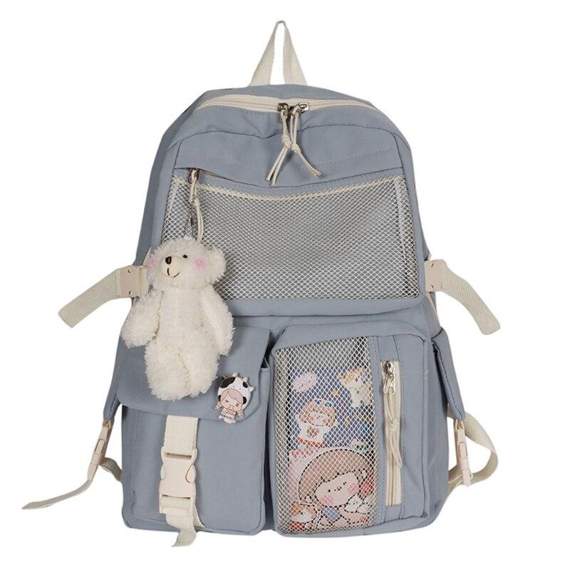 Nylon Women Backpack Fashion Waterproof Rucksack for Teen Girls School Bag Cute Student Bookbag Travel