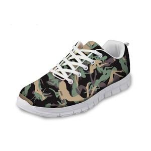 HaoYun Women Outdoor Sneaker Shoes Camouflage Print Pattern Girls White Flat Walking Shoes Breathable Ladies Footwear Zapatillas