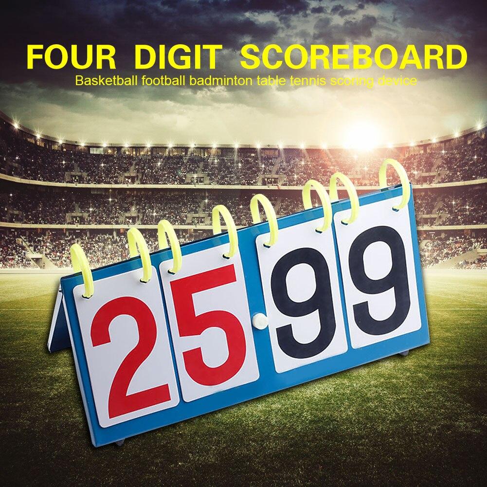 1 ud. 4 dígitos para tenis de mesa fútbol bádminton marcador portátil baloncesto voleibol profesional competición deportiva