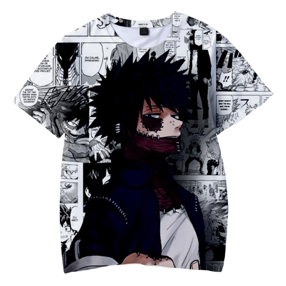 My Hero Academia Dabi 3D Printed t-shirt Spring/Summer Short Sleeve tshirt Harajuku For Adult And Kids