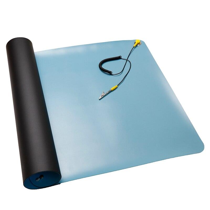 ESD Anti-Static Big Desk Pad Maintenance Platform Ground Wire ESD for Repair Work Mats 700 X 500Mm