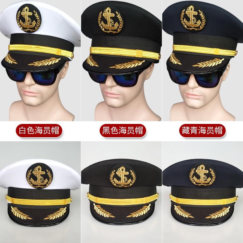 قبعة القبطان البحرية للرجال ، قبعة كبيرة بحار ، أداء مسرحي ، فيدورا ، 2020