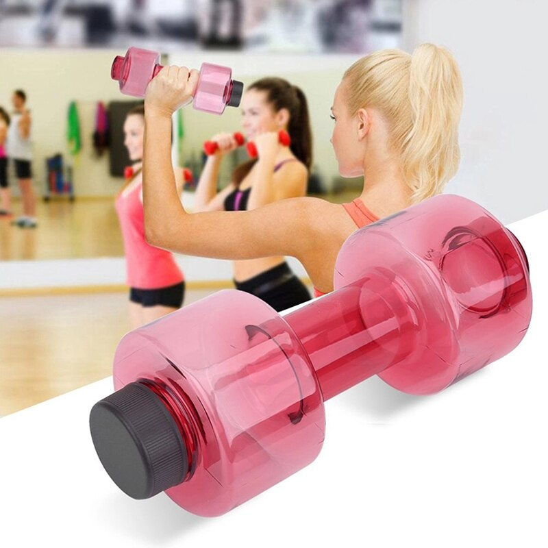 3 Colors 550ml Sport Water Bottle Body Building Water Dumbbell Fitness Gym Shaker Dumbbell Shape Drinking Jug Cup Plastic Bottle