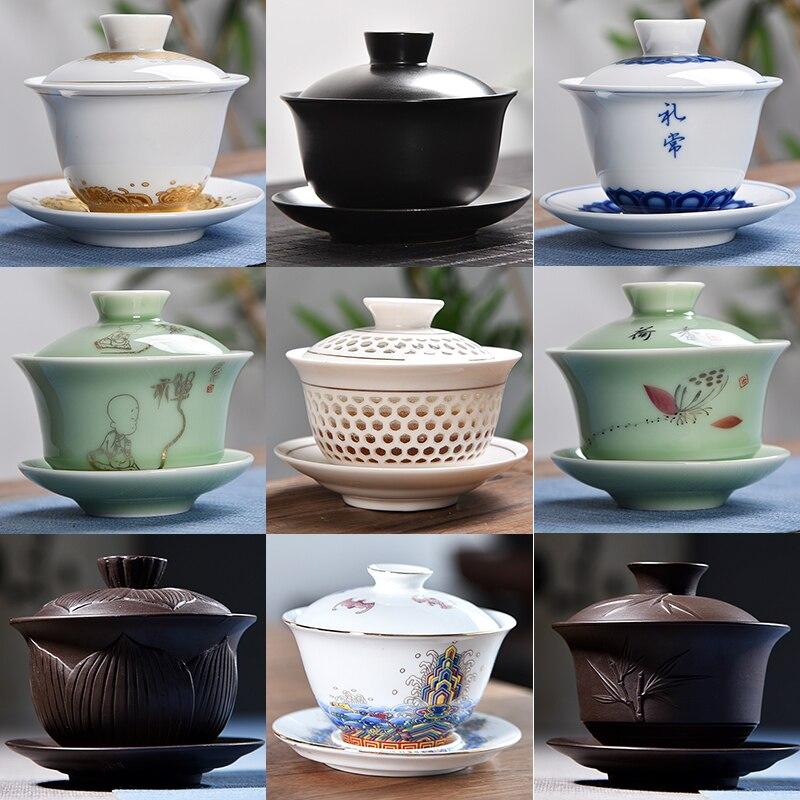 ¡Nuevo Año! 1 pieza de té de cerámica de 6 colores, Set de accesorios para decoración del hogar, regalo de boda de negocios para el novio y el marido