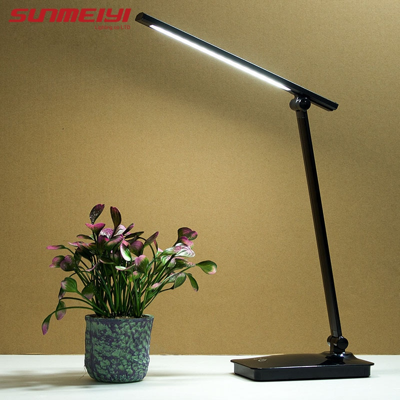 Modern Desk Lamps Led Folding 3-level Dimming Table Lamp Battery Powered USB Rechargeable Study Lamp Touch Switch For Student