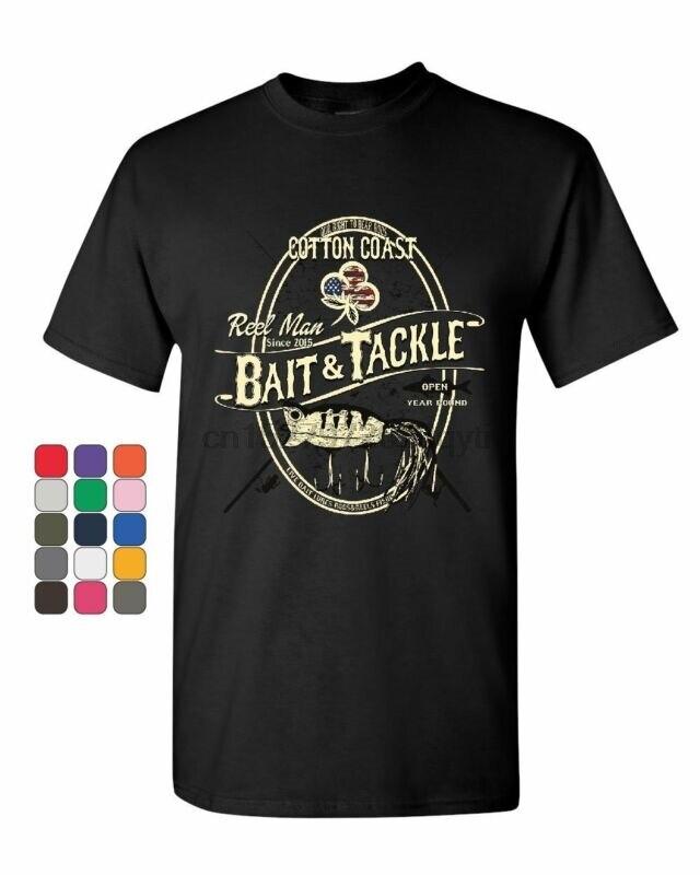 Camiseta para hombre con carrete, cebo y aparejo, trucha, caña de Pesca de lubina, señuelo, camiseta para hombre