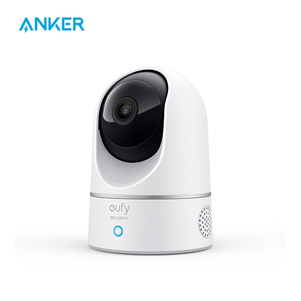 eufy Security 2K Indoor Cam Pan & Tilt, Plug-in Security Indoor Camera with Wi-Fi, Human & Pet AI, V