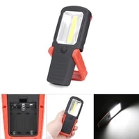 cob led flashlight magnetic working light portable torch 360 degree hanging hook lantern for tent camping fishing car repairing