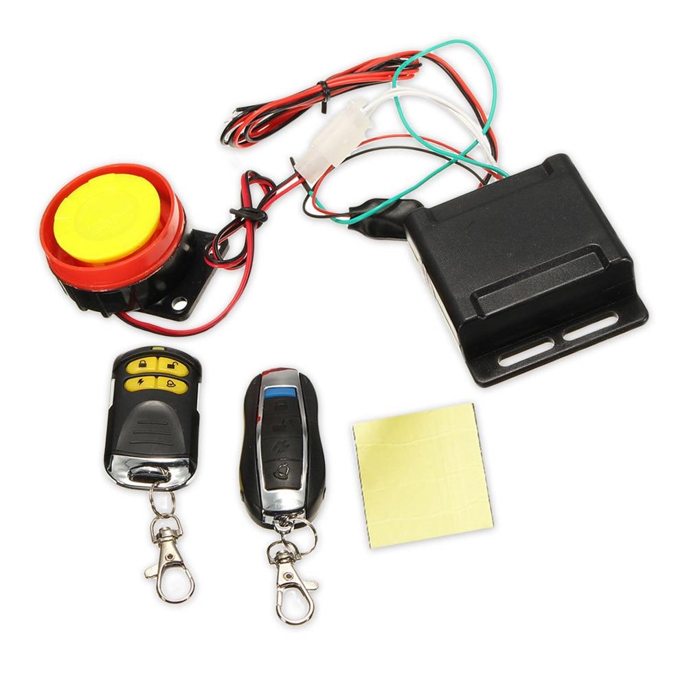 Universal 12V motorcycle car alarm alarm pedal off-road vehicle UTV ultra small host dual remote control