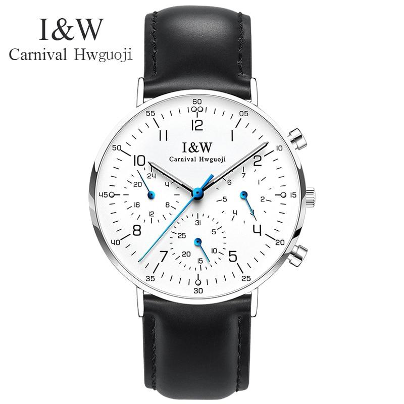 Carnival Brand Fashion Watch Men Casual Week Date Calendar Sapphire Quartz Wristwatch Waterproof Luminous Ultrathin Reloj Hombre enlarge