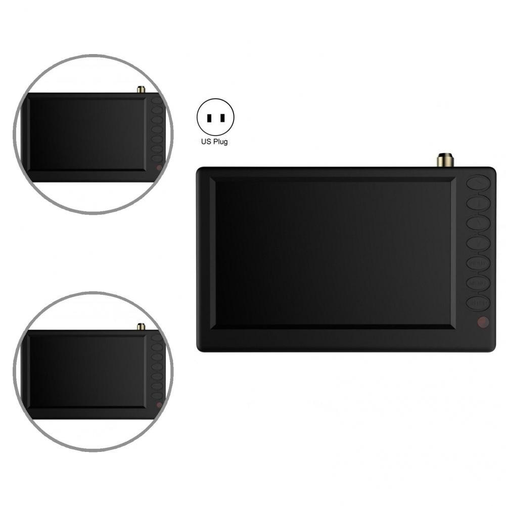 Ультратонкий портативный аналоговый телевизор с разъемом для карт, 5 дюймов, HD, портативный аналоговый телевизор, стабильный выход для кухн...