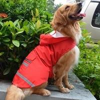 pet puppy reflective raincoat outdoors coat 3xl 5xl waterproof jacket for big golden retriever labrador husky big dogs