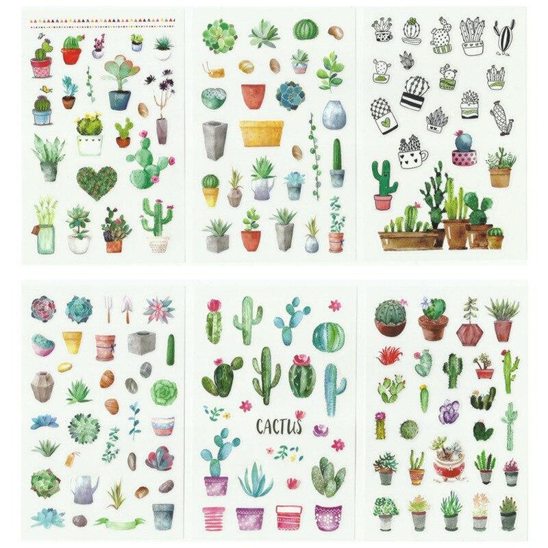 6-pz-set-adesivi-per-pianificatore-di-piante-di-cactus-verde-carino-scrapbooking-kawaii-decorazione-fai-da-te-stick-etichetta-adesiva-bullet-journal-stickers