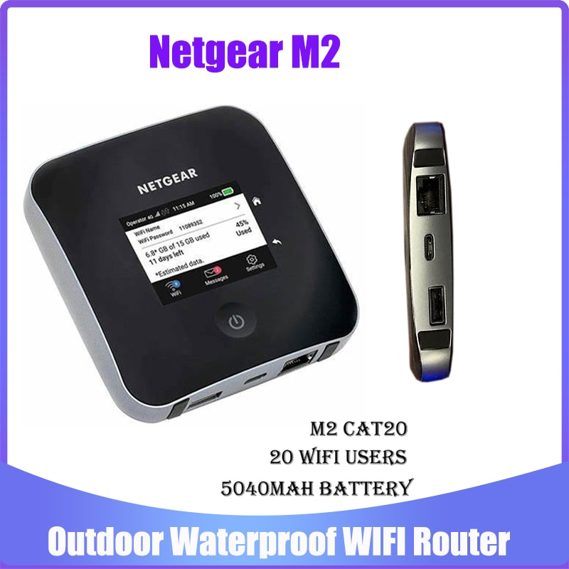 Разблокированный Мобильный Wi-Fi роутер Netgear Nighthawk M2 MR2100 cat20 4GX Gigabit 4G 2 Гбит/с 5CA, точка доступа, Wi-Fi роутер, карманный маршрутизатор Mifi RJ45 роутер