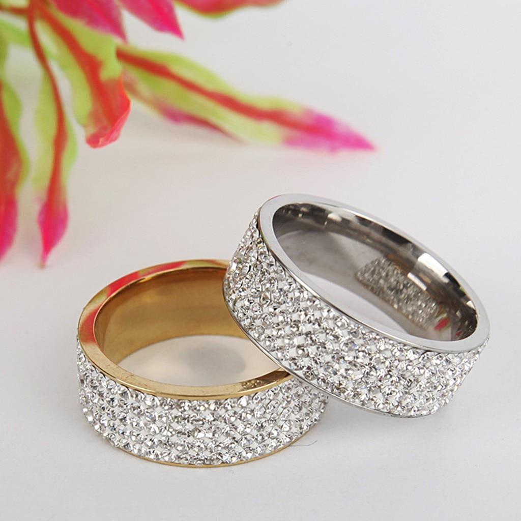Anillo geométrico de acero inoxidable a la moda para mujer tamaño 5-13 regalo de San Valentín anillo de plata niña FJSL