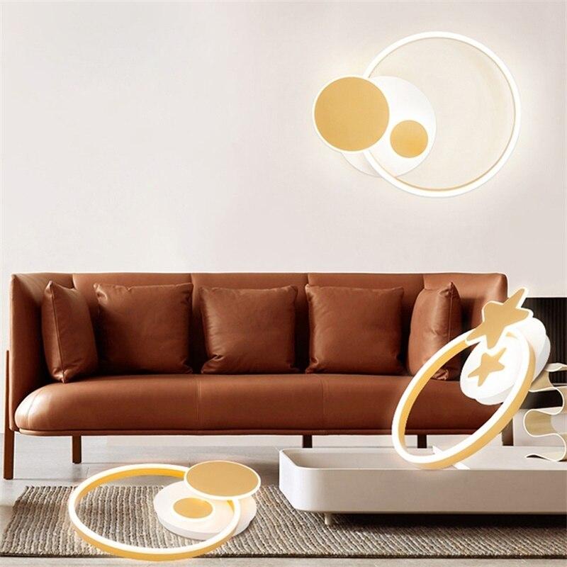 Ультра тонкий светодиодный люстры золото освещение для Гостиная Кухня Ресторан вилла поверхностного монтажа Алюминий AC90-260V приспособлени...