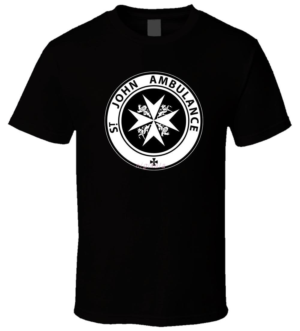 Doctor Who Tardis St John ambulancia 4 nueva gran oferta Negro hombres camiseta S - 3XL 3D camiseta hombres de talla grande de algodón Tops Tee