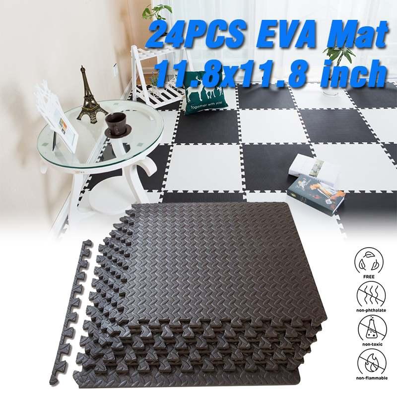 24pcs Children Play Mat EVA Foam Interlocking Tiles Protective Flooring Eva Foam Mats Tiles Gym Floor Mat Home Floor Mat