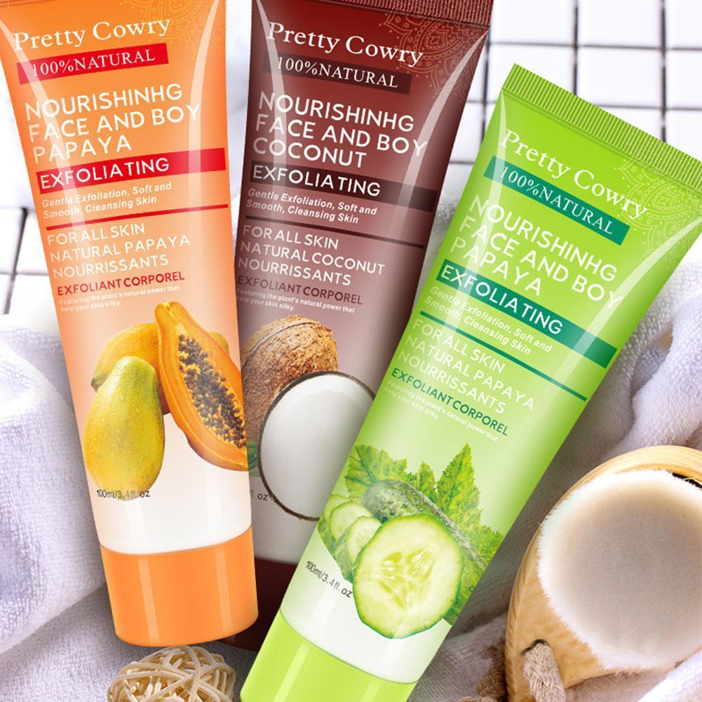 AliExpress - 100ml Papaya Exfoliating Cream Scrub Peeling Gel Face Cream Face Body Skin Whitening Care Body Moisturizing Hand