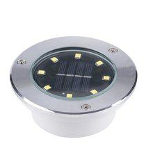 Solar Powered 8 LED Landscape Light Waterproof 0.75W 2V Flood Lights Landscape Garden Yard Path Flood Spot Light Rod