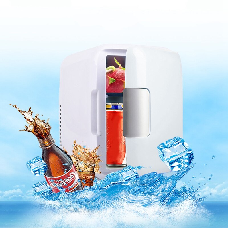4L Car Refrigerator Ultra Quiet Low Noise Car Mini Fridge Freezer Cooling Heating Box Refrigerator