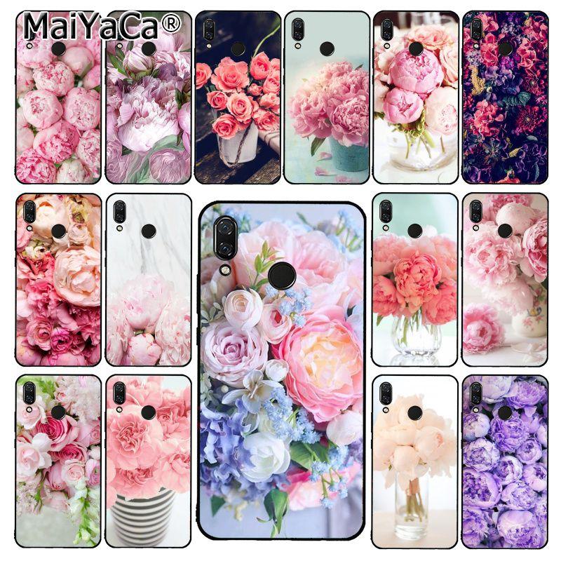 MaiYaCa elegante Rosa flor peonia morada en el jarrón funda de teléfono para Xiaomi Redmi8 4X 6A 9 5A Redmi 5 5Plus Note7 8Pro 7A 6A
