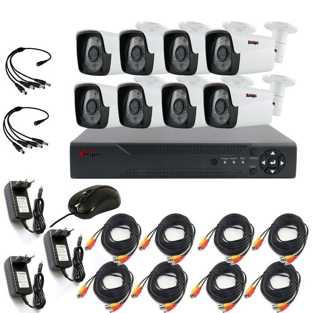 8CH 1080P AHD Kit водонепроницаемый DVR CCTV Camera система камер домашней безопасности System