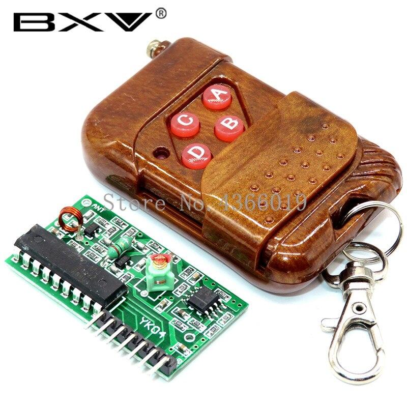 1set IC 2262/2272 4 Canal 315 Mhz/433 Mhz Chave Sem Fio Kits de Controle Remoto módulo Receptor