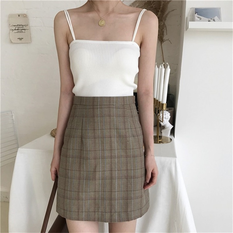 Hbeffa130b3744e22bfc5722ab25c464ew - Summer Korean Sleeveless Basic Solid Camisole