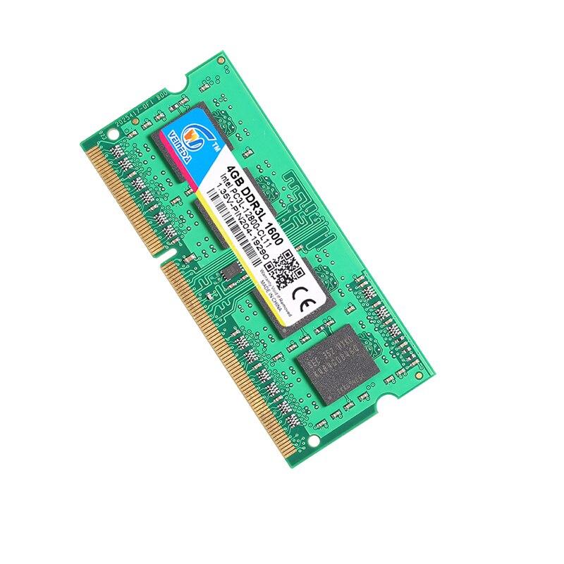 RAM DDR3L 4GB 8GB 16 gb y 1333 GB 1600 PC3-12800 1,35 V para Intel AMD Compatible con 2 GB ddr 3 ram memoria Non-ECC SODIMM