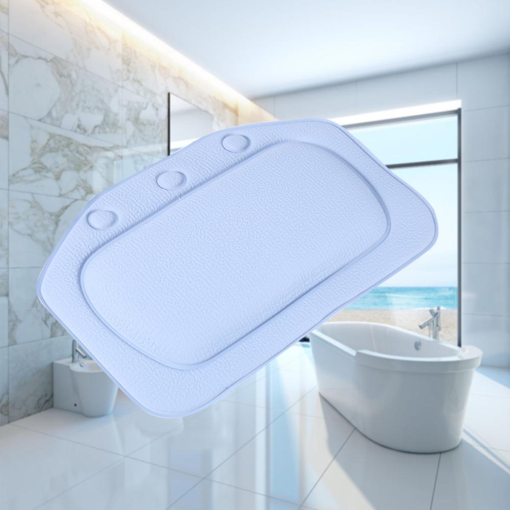 15 Bathroom Supplies Bathtub Pillow Bath Bathtub Headrest Suction Cup Waterproof Spa Bath Pillows Bathroom Products Home 17