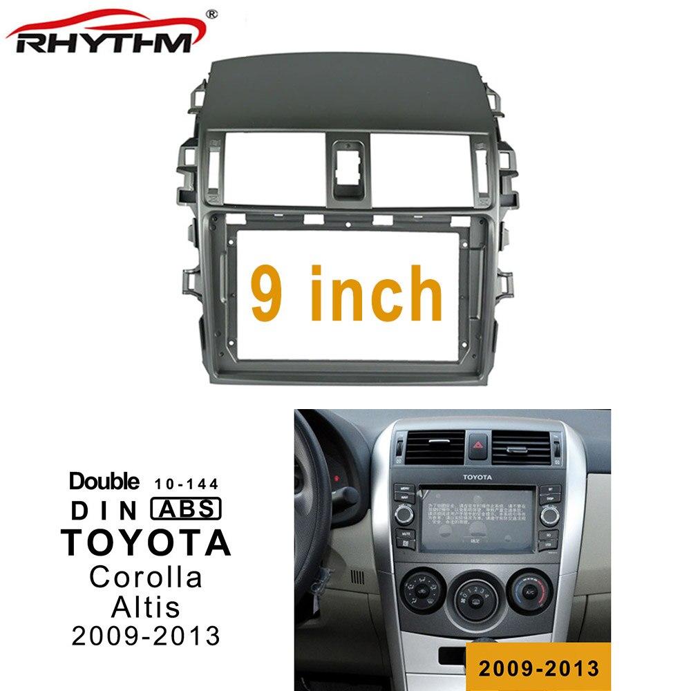 9 Inch 2din Car Radio Fascia For TOYOTA Corolla Altis 2009-2013 Double Din Car Dvd Frame Adaptor Panel Dash Mount Installation