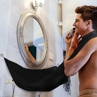waterproof male beard apron razor holder man bathroom apron hair shave beard catcher floral cloth household cleaning protector