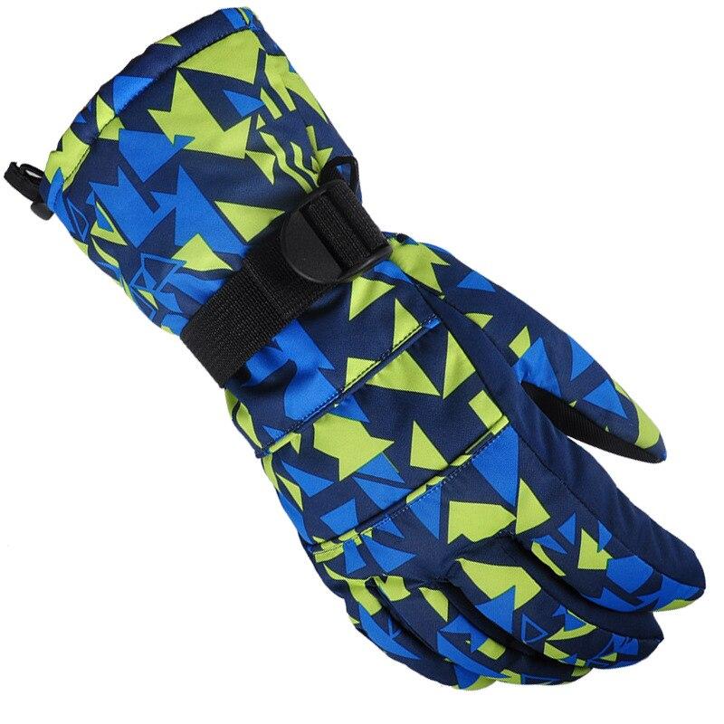 Guantes cálidos de invierno para Snowboard, guantes para hombre y mujer, para deportes al aire libre, ciclismo, senderismo, nieve, Snowboard, guantes impermeables para nieve