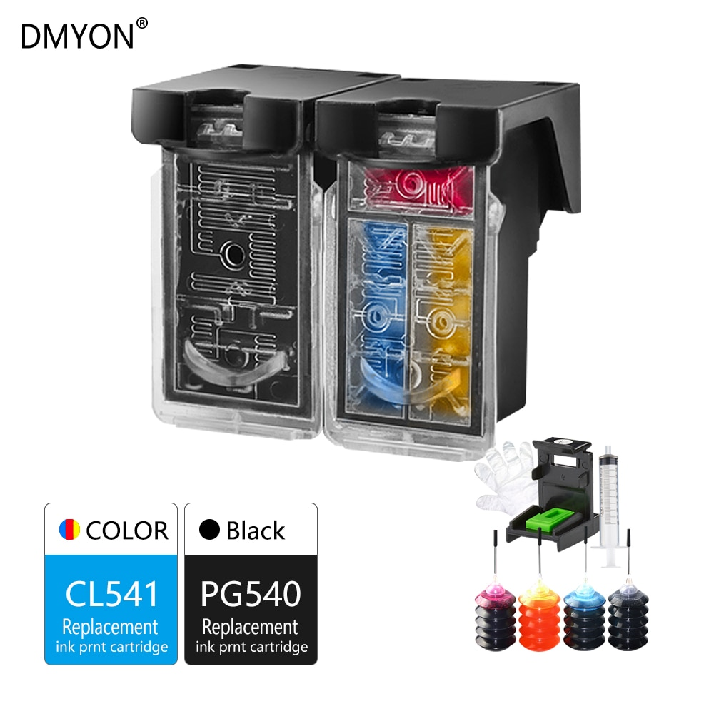 DMYON de reemplazo para Canon PG540 CL541 cartucho de tinta rellenable para Pixma MG2150 MG2250 MG3150 MG3155 MG3200 MG3250 MG3255