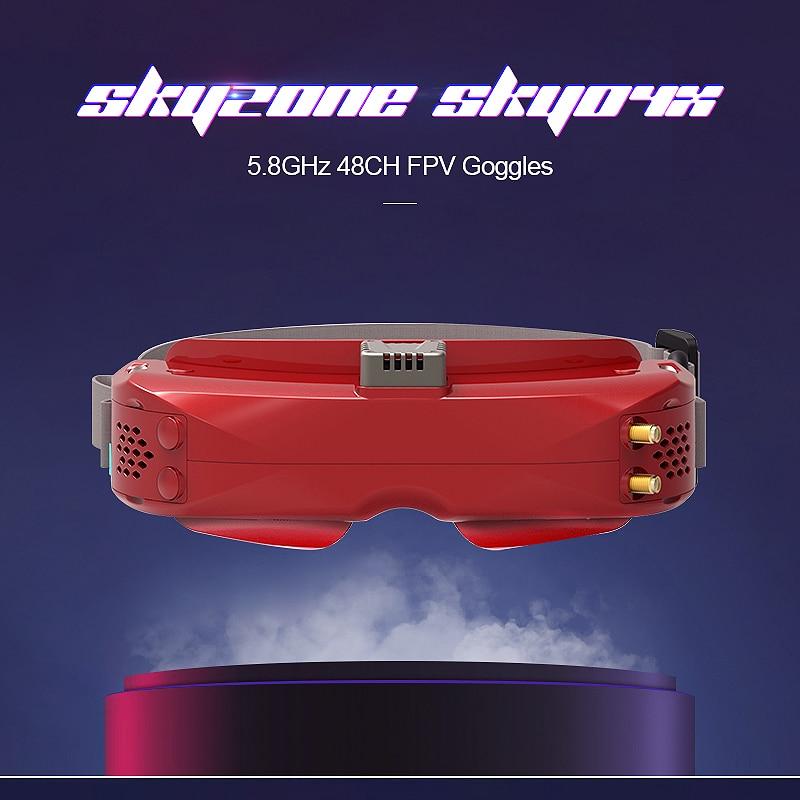 SKYZONE SKY04X OLED 5.8GHz 48CH Steadyview Receiver 1280X960 Drone toys w/ Head Tracker Fan FPV Goggles For RC Mini Drones Toys