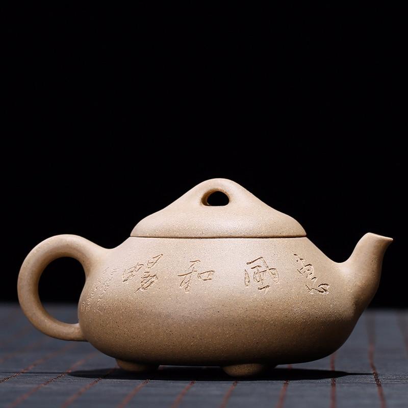 Yixing ore mine Shipiao teapot handmade kung fu kettle creative drinkware