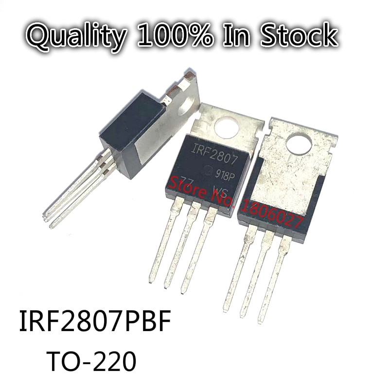 10PCS/LOT    IRF2807PBF  field effect tube IRF2807 N channel 75V 82A TO-220