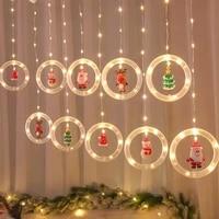 christmas led light string snowman santa claus christmas tree elk xmas hat led light kids favor merry christmas decor for home