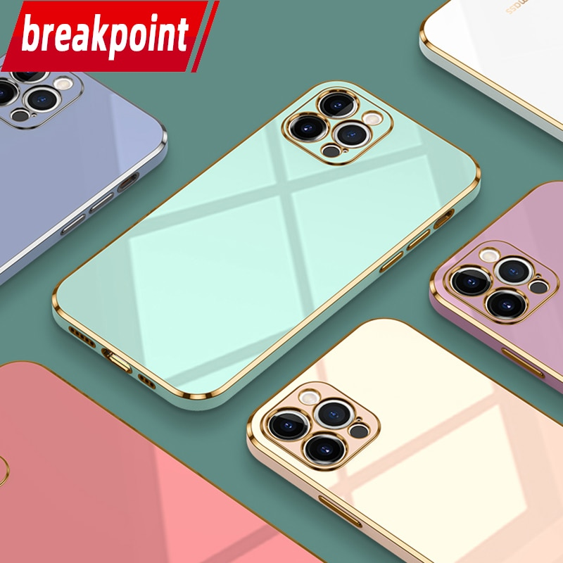 Breakpoint iPhone 12 Case Plating 6 6s 7 8 Plus SE 2020 Phone Protective 11 Pro Shell XR X  Mini Lux