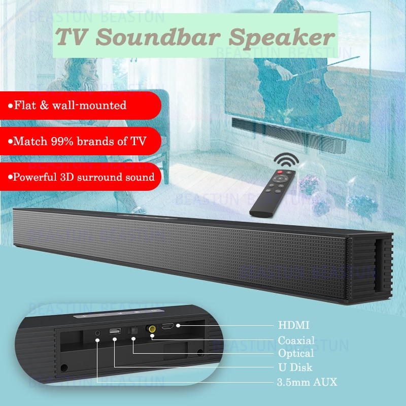 40W Powerful Home Music Center Sound Blaster Bluetooth Speaker Coaxial Echo OPT HDMI  Soundbar Wall-mounted TV Audio Sound Box enlarge