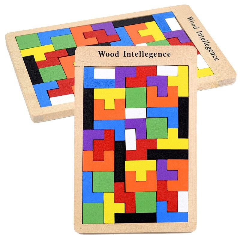 Деревянная красочная головоломка Intellegence, детская игра-головоломка с умным штормом, цветная деревянная Интерактивная настольная игра
