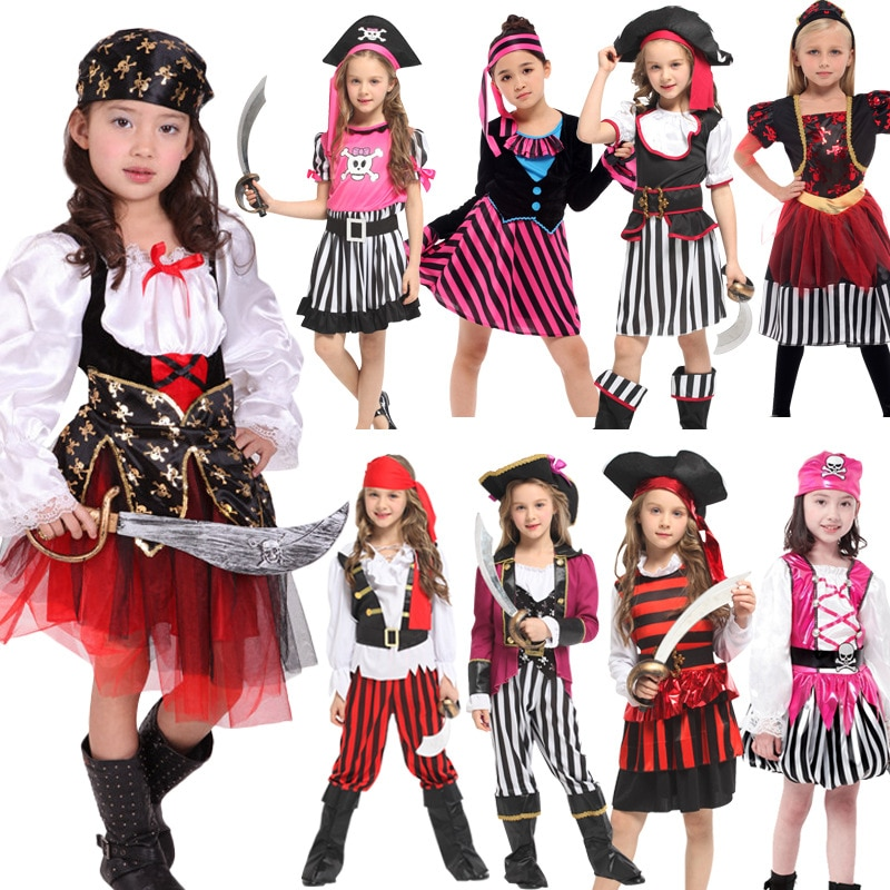 Umorden Halloween Carnival Party Costume for Girl Girls Kids Children Pirate Costumes Fantasia Infantil Cosplay Clothing halloween purim costumes for kids girls carnival the king prince costume for boy boys children fantasia infantil cosplay child