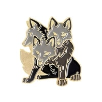 cerberus animal brooches ancient greek mythology clothes coat jeans brooch badges button enamel pins jewelry gift for boyfriend