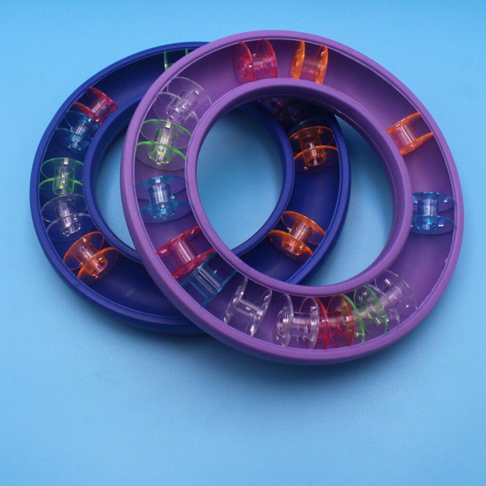 Caja de almacenamiento de bobina de anillo de goma, herramientas de costura, caja de almacenamiento de bobina de plástico, accesorios de costura de anillo de goma 1 pieza