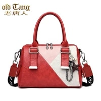 olsitti high quality pu leather fashion stitching color shoulder bags for woman 2021 new casual womens handbags sac a main