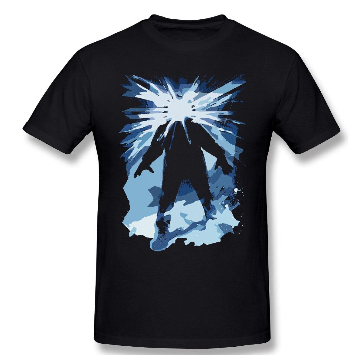 Carácter creativo, popular camiseta de manga corta para hombres, camiseta blanca congelada estampada, camisetas grandes de verano de algodón para hombres