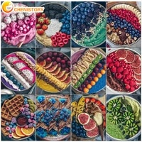 chenistory diy painting by numbers food modern fruit tray oil painting adults kit handpainted canvas drawing home decor gift
