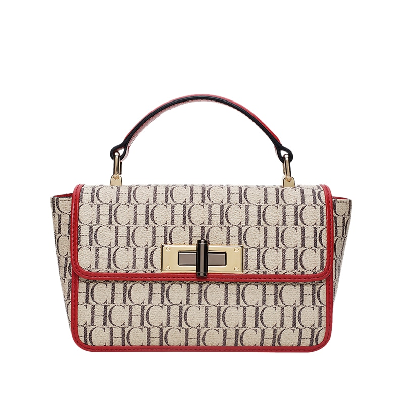 CHCH 2021 New Luxury Designer Fashion Women Handbags Crossbody Beige and Red Shoulder Bag for Party